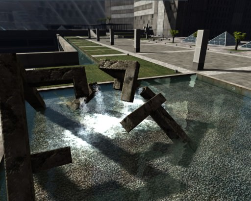 Particle-based fountain