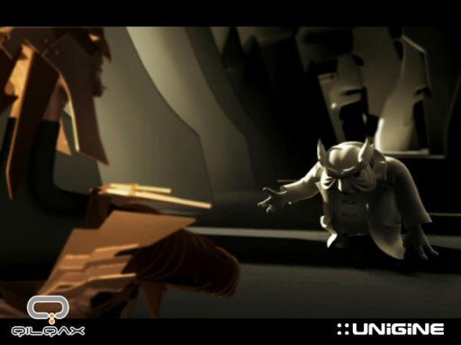 A screenshot from 'Magus ex Machina', a Unigine-based 3D animated movie