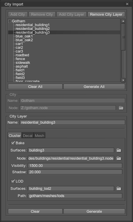 City Import Plugin