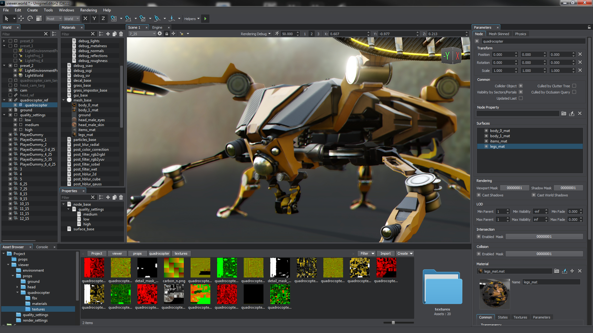 UNIGINE 2 6: Editor2, Improved Multi-Channel Rendering