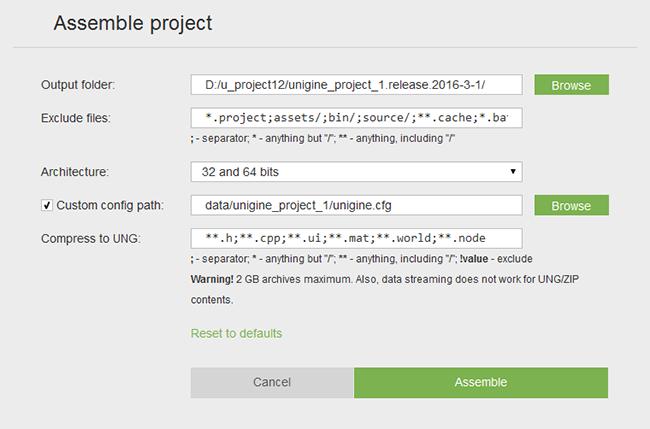 Working with Projects - Documentation - Unigine Developer