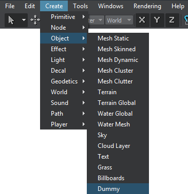 Dummy Object - Documentation - Unigine Developer